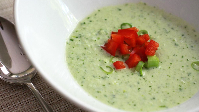 Chilled Coconut Cucumber Soup
