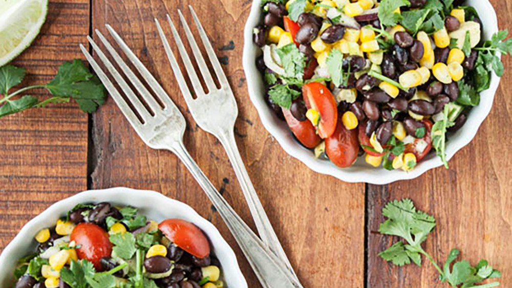 Black Bean + Corn Salad with Cilantro-Lime Dressing