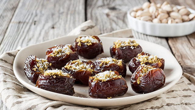 Sweet & Savory Pistachio-Stuffed Dates