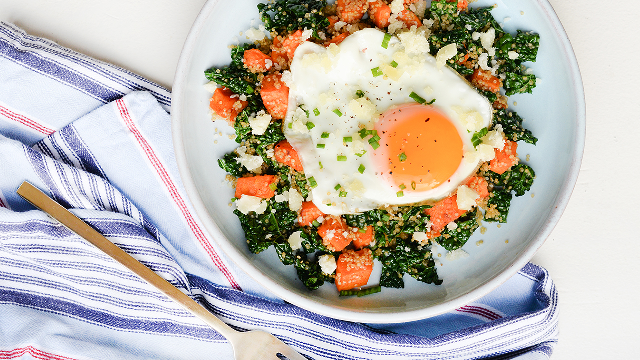 SWEET POTATO + KALE HASH